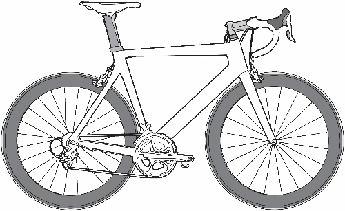 Simple Road Bike Drawing